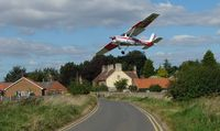 G-BRNN @ EGNF - Cessna 152 lands in a crosswind at this beautiful English rural setting