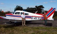 G-AYYU @ EGCF - My 1000th photo ! - A special moment for me (pictured right) after completing my maiden GA flight (as a passenger) from Sturgate to Sandtoft