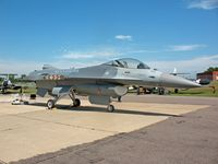81-0807 @ MSP - General Dynamics F-16A Fighting Falcon Block 15H, Minnesota Air National Guard Museum - by Timothy Aanerud