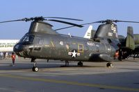 151957 @ DAY - CH-46A at the Dayton International Air Show. Converted to CH-46D - by Glenn E. Chatfield