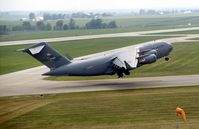 99-0058 @ CID - C-17A departing runway 31, seen from the control tower - by Glenn E. Chatfield