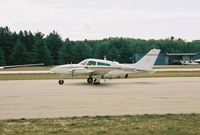 N111NC @ MGN - Taxi for departure RWY 28 @ Harbor Springs Airport (MGN) - by Mel II