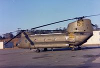 66-0117 - CH-47A at the maintenance ramp, Lawson Army Air Field, Ft. Benning.  It was transferred to the VNAF and captured by North Vietnam at the end of the war. - by Glenn E. Chatfield
