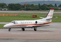 VP-CED @ EGCC - Manchester based biz jet - by Kevin Murphy