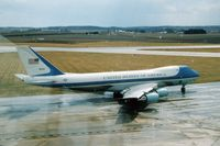 82-8000 @ CID - Air Force One taxiing for departure - by Glenn E. Chatfield