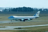 82-8000 @ CID - Air Force One turning onto runway 9, almost a mile from me and my 600mm lens - by Glenn E. Chatfield