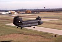 66-19141 @ DPA - CH-47B flying by the control tower; later rebuilt as CH-47D - by Glenn E. Chatfield