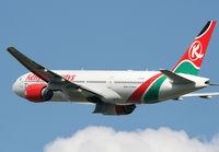 5Y-KQT @ EGLL - Kenyan 777 - by Kevin Murphy