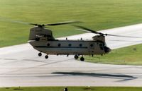 98-0012 @ CID - CH-47F Flying by the control tower on take-off - by Glenn E. Chatfield