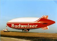 N501LP @ GKY - Budwiser Blimp paint - by Zane Adams