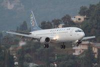 SX-BKF @ LGKR - Olympic 737-400 - by Andy Graf-VAP
