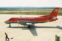 N438XJ @ PLN - MES2706 - PLN-DTW - Taxi for departure RWY 14 @ Pellston Regional Airport (PLN) - by Mel II