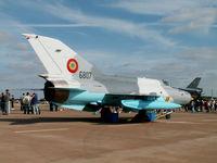 6807 @ EGVA - Mikoyan-Gurevich MiG-21-MF75/Romanian AF/RAF Fairford - by Ian Woodcock