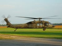 88-26078 @ O74 - Ohio National Guard UH-60 Blackhawk landing at Mount Victory, OH - by Bob Simmermon