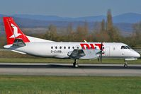 D-CASB @ LFSB - departing to Bremen/Germany Saab 340 ex Crossair - by eap_spotter