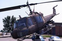 66-15185 @ ALO - Huey mounted at the Army National Guard base - by Glenn E. Chatfield