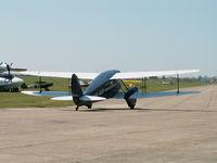 G-AKIF @ EGSU - DH-89A Rapide/Duxford - by Ian Woodcock