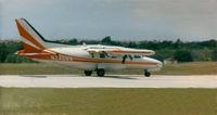 N246NW @ GKY - Mitsubishi MU-2 on the runway at Arlington, TX