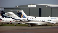 N399W @ EGGW - Smart Cessna 750 at a very busy Luton ramp (UK) - by Terry Fletcher