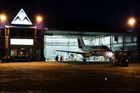 C-FECN @ KDLH - Being Hangared at KDLH - by Aaron Landry