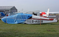 G-ASER @ EGHH - May be rebuilt as an exhibit - by Les Rickman