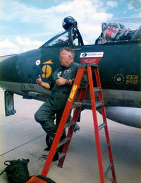 N58HH @ GKY - Tom Delashaw ferry pilot on arriaval day at Texas Air Command Museum