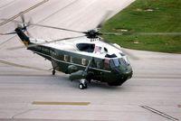 159353 @ CID - Presidential Helicopter in for President Bush's visit - by Glenn E. Chatfield
