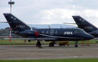 G-FRAJ @ EGNV - Falcon on a dreary day
