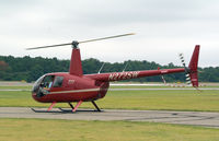 N272SW @ FRG - R-44 At the show heading outr for a ride.