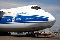 RA-82045 @ LAX - A rare visitor parked at the Imperial Cargo Terminal after arriving with a hefty payload. - by Dean Heald