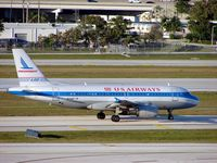 N744P @ KFLL - Heritage livery for this A319