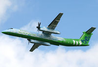 G-JEDP @ EGCC - GREEN DASH 8 - by Kevin Murphy