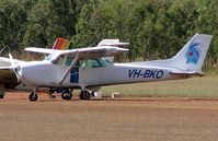 VH-BKO @ YMBA - Colourful tail logo for this Cessna at Mareeba