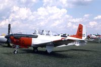 161800 @ OSH - T-34C displayed at the EAA Fly In - by Glenn E. Chatfield