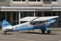 D-EBHV @ LSZG - Piper PA-18-95 Super-Cub - taxi fuelstation - by eap_spotter
