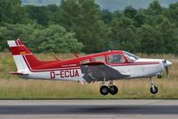 D-ECUA @ LFSB - Piper PA-28-151 Cherokee Warrior landing on runway 16 - by eap_spotter