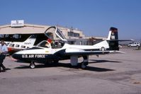 60-0125 @ CID - T-37B passing through - by Glenn E. Chatfield