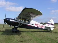N5730H @ EGBT - PA-16 Clipper at the Turweston fly-in - by Simon Palmer