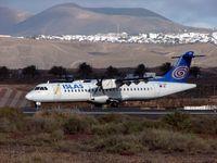 EC-IKK @ GCRR - ATR of Islas Airways awaiting take-off clearance