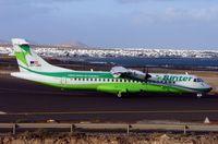 EC-JAH @ GCRR - Binter ATR72 waiting to take off