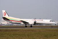 LY-SBC @ LIMC - Lithuanian SAAB 2000 landing at Milan Malpensa - by Steve Hambleton
