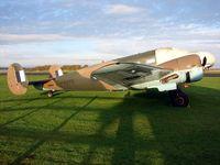 G-BKGM @ EGTU - Veteran Beech 18 wears RAF markings HB275