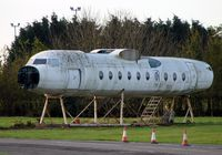 G-BAUR @ EGTE - This fuselage is all that remains of this Fokker 27 at Exeter Fire Dept