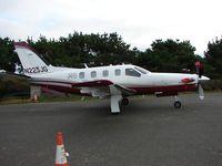 N223JG @ EGTP - Socata TBM850 c/n 407 - property of the Airfield owner