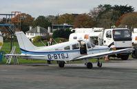 G-BTSJ @ EGHD - Piper Pa-28-161 refuels at the Plymouth pump