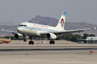 N828AW @ KLAS - US Airways - 'Retro' / Airbus Industrie A319-132