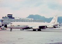 B-1008 @ HKG - taxying past the old HKG Kai Tak airport terminal May 1967 - by Manuel Vieira Ribeiro