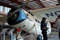 N105W @ FA08 - Lockheed Vega with owner Kermit Weeks