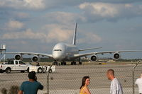 F-WWJB @ MCO - people turn out to see A380