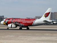 N837AW @ KLAS - US Airways - 'Arizona Cardinals' / 2005 Airbus A319-132